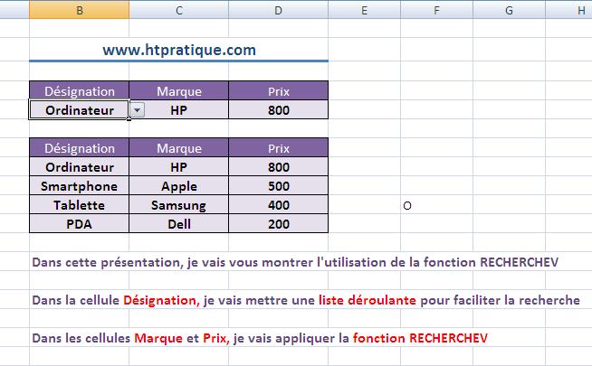 Comment utiliser la fonction recherchev excel vid o for Comment utiliser la filasse