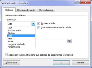 Comment créer une liste déroulante sur Excel