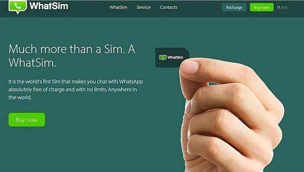 WhatSim, Une carte SIM qui offre l?accès à WhatsApp sans connexion