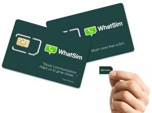 WhatSim Une carte SIM qui offre l?accès à WhatsApp sans connexion