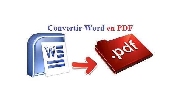 comment convertir un texte word en pdf