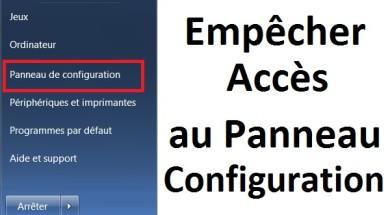 Empêcher l'accès au Panneau de configuration sur windows 7