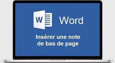 WORD Note de bas de page WORD - Notes de bas de page Word