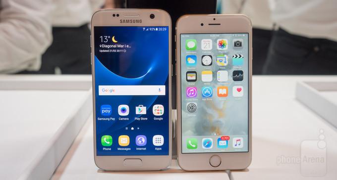 samsung galaxy s7 vs iphone 6s un comparatif des deux smartphones. Black Bedroom Furniture Sets. Home Design Ideas