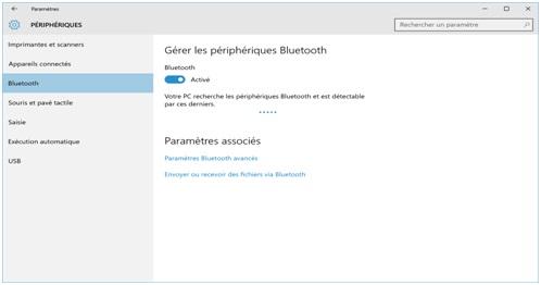 Étape 1 Lancez Bluetooth sur l'ordinateur