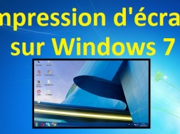 Comment faire une impression d'écran sur Windows 7