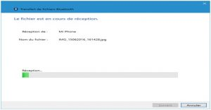 procéder à vos transferts de fichier via bluetooth 4