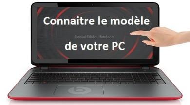 Connaitre le modèle de son PC