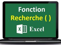 La fonction recherche Excel