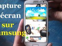 Comment faire une capture d'écran sur Samsung Galaxy (Android)