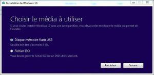 5 Créer un support d'installation de Windows 10 créer une clé USB d'installation de Windows 10 DVD Windows 10 clé USB windows 10