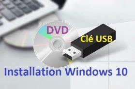 Créer un support d'installation de Windows 10 créer une clé USB d'installation de Windows 10 DVD Windows 10 clé USB windows 10
