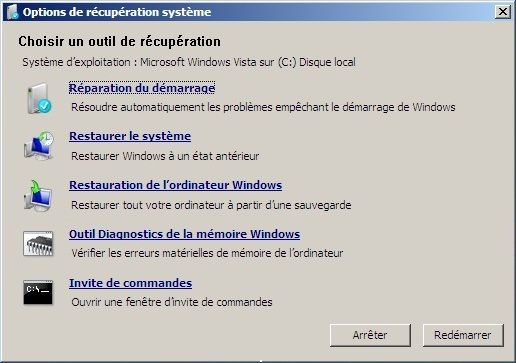 comment réparer windows 7 avec cd d'installation