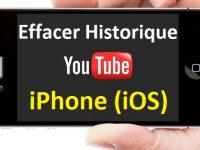 Comment effacer l'historique de Youtube sur iPhone iOS
