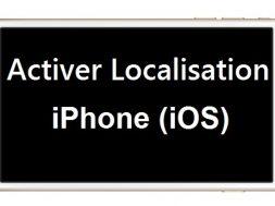 Activer Service de Localisation iPhone