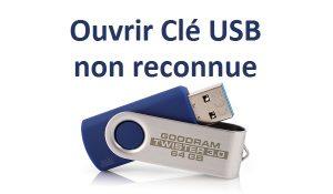 Ouvrir une clé usb non détectée clé usb non reconnue