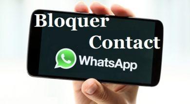 Comment bloquer un contact sur whatsapp