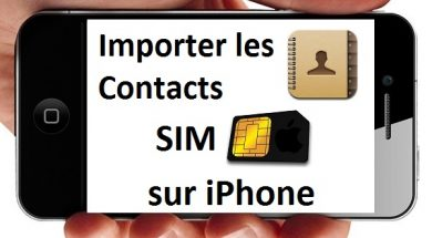 Importer les contacts SIM sur iPhone