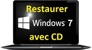 comment restaurer Windows 7 avec CD d'installation