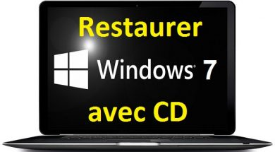 comment restaurer Windows 7 avec CD d'installation
