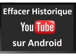 Comment supprimer l'historique de Youtube sur Android samsung htc lg