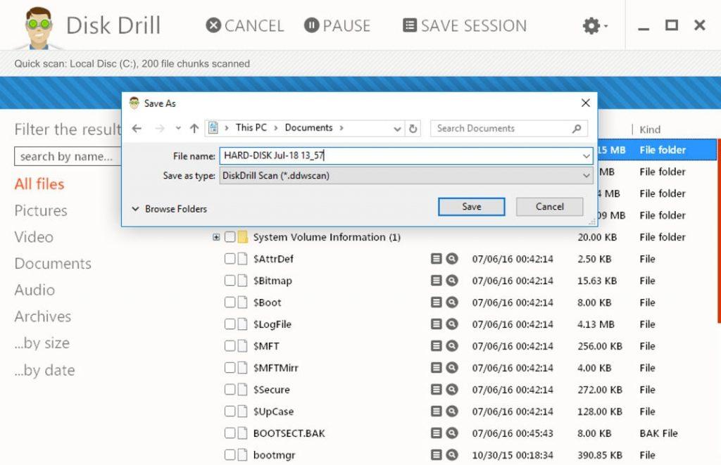 Disk Drill récupération de données sur mac