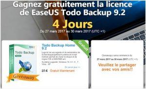 Offre promotionnelle EaseUS Todo Backup Home 9.2 gratuit pendant 4 jours