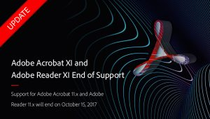 Fin de support pour Adobe Acrobat et Adobe Reader 11