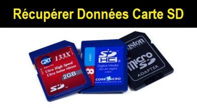 Récupérer les fichiers d'une carte SD formatée Easeus data recovery wizard free récupérer données carte sd