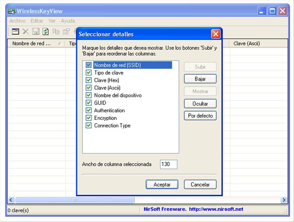 WirelesskeyView logiciel gratuit de récupération de mot de passe
