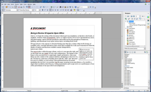 Apache OpenOffice alternative Word