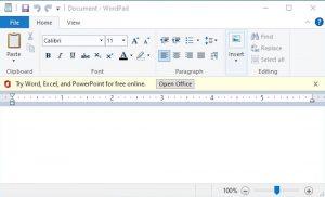 Wordpad alternative word gratuit