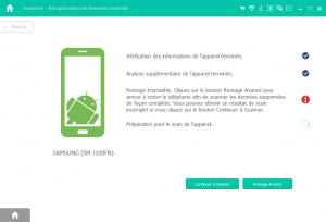 Analyser le périphérique Android et récupérer les fichiers