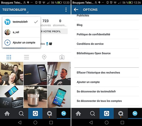 Gérer plusieurs comptes Instagram en même temps