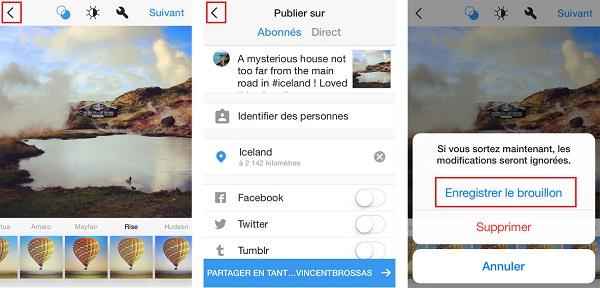 Sauvegarder des photos pour les publier plus tard instagram