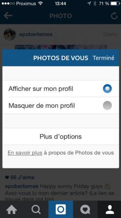 Supprimer votre identification d'une photo Instagram