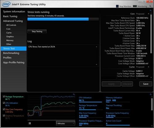 Intel XTU Les meilleurs logiciels pour surveiller les performances et la température d'un PC