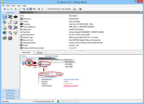 PC Wizard logiciels pour surveiller les performances et la température d'un PC