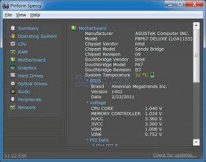 Speccy Les meilleurs logiciels pour surveiller les performances et la température d'un PC