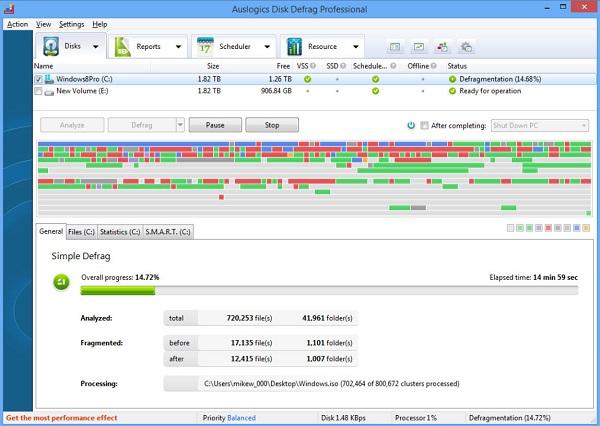 Auslogics Disk Defrag Defrag Les meilleurs logiciels de défragmentation de disque dur gratuit