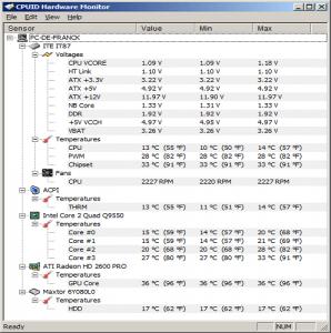 HWMonitor surveiller votre PC