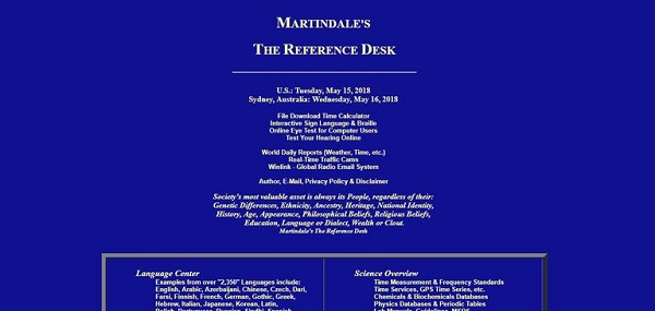 Martindale Reference Desk alternative Wikipedia
