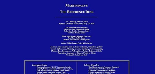 Martindale Reference Desk alternative Wikipedia