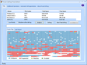 Puran Defrag Les meilleurs logiciels de défragmentation de disque dur gratuit