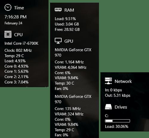 Sidebar Diagnostics pour ordinateur
