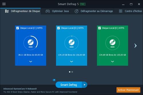 Smart Defrag Les meilleurs logiciels de défragmentation de disque dur gratuit