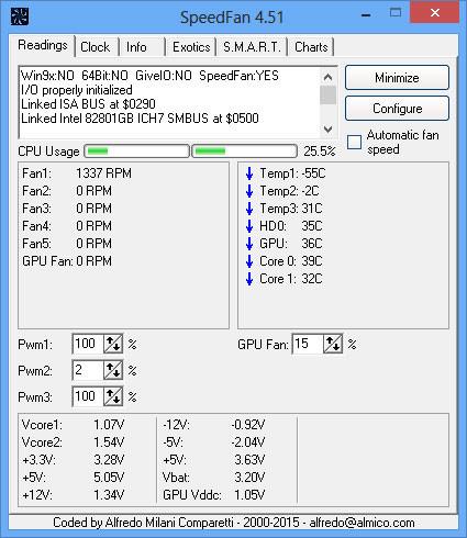 SpeedFan logiciel contrôler la température de fonctionnement ordinateur