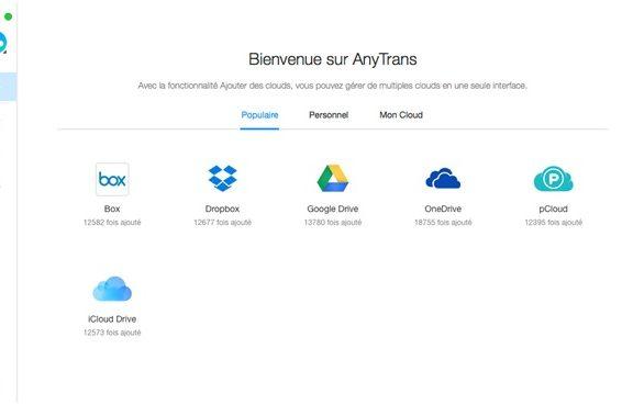 AnyTrans pour Cloud, l'utile à l'agréable, au secours des utilisateurs Clouds