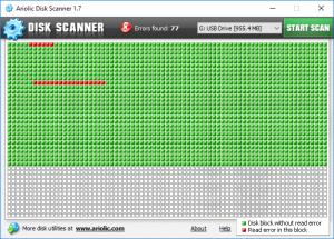 Ariolic Disk Scanner Les meilleurs logiciels gratuits de réparation de disque dur