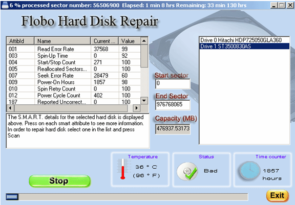 Flobo Hard Disk Repair Les meilleurs logiciels gratuits de réparation de disque dur